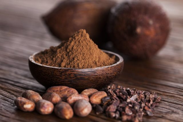 Cacao beans and powder and food dessert background 613233250 5acedc8d18ba01003711a302.jpg