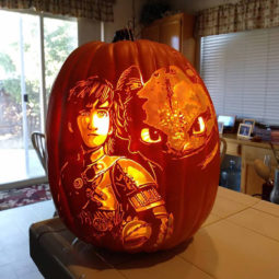 Cool pumpkin carving how to train your own dragon.jpg