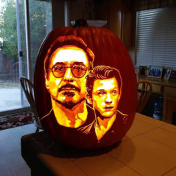 Cool pumpkin carving rdj and tom holland.jpg
