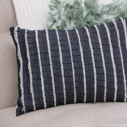 Old denim pleated ruffle pillow with denim 2.jpg