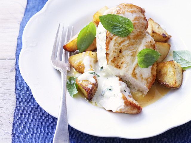 Here to help - all about cheese - fetta & basil stuffed chicken breasts