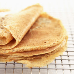 Stack of Crepes on Rack