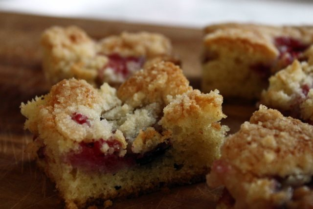 Plum cake cut into pieces.jpg
