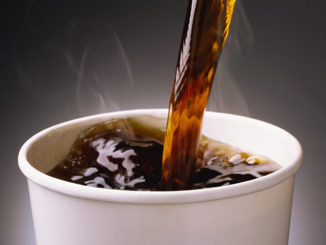 Coffee pouring into cup