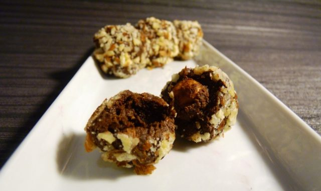 Low fat homemade ferrero rocher whole hazelnut centre with chopped nut coating recipe.jpg