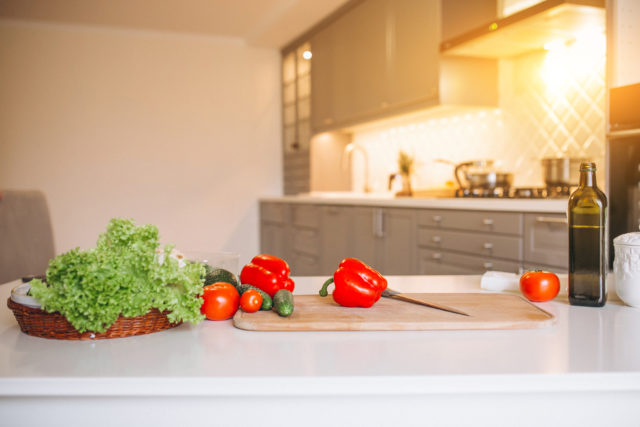 Healthy vegetables at the kitchen