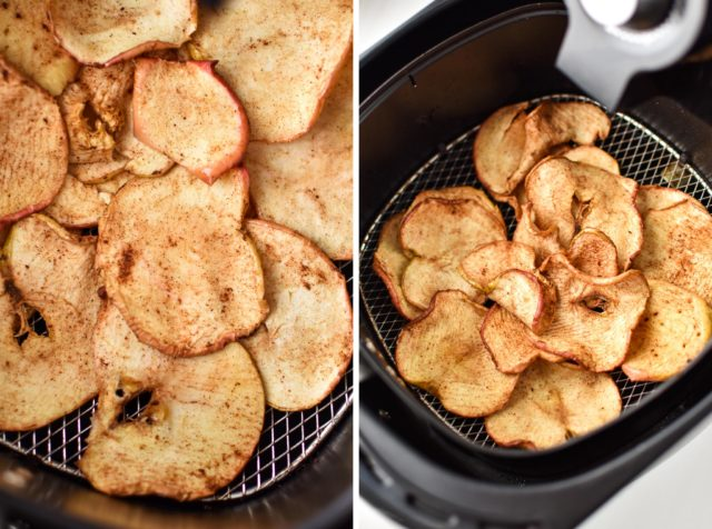 How to make air fryer apple chips done drying collage.jpg