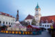 Bratislava - christmas market in morning and town hall