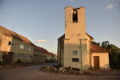 Damaged church after a tornado hit the village of Hrusky in the Breclav district, South Moravia, Czech Republic, Friday, June 25, 2021. A rare tornado hit towns and villages in southeast part of the country, injuring some 150 people and damaging hundreds of houses. Some 200 police officers and members of the army have been deployed in the region to help the rescue workers. ()