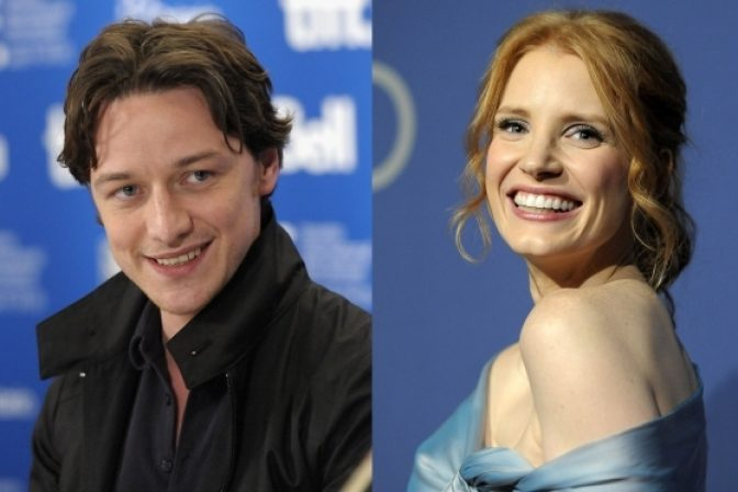 James McAvoy a Jessica Chastain