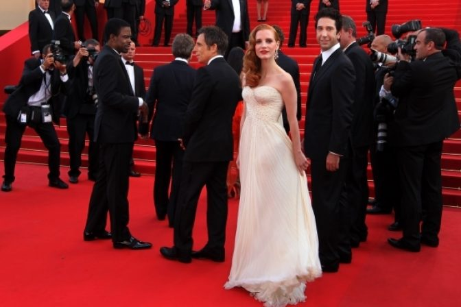 Jessica Chastain v Cannes
