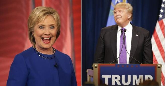Hillary Clintonová, Donald Trump