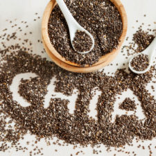 Chia word made from seeds.