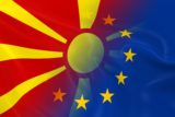 Macedonian and European Relations Concept Image
