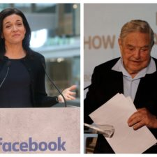 Georger Soros facebook Sandberg