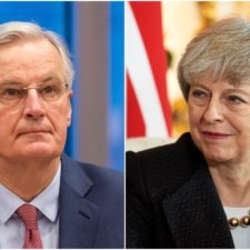 Michel Barnier, Theresa Mayová