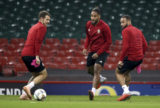 Aaron Ramsey, Ashley Williams,Jazz Richards.
