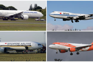 EasyJet, Turkish Airlines, Singapore Airlines, Air China, letecké spoločnosti