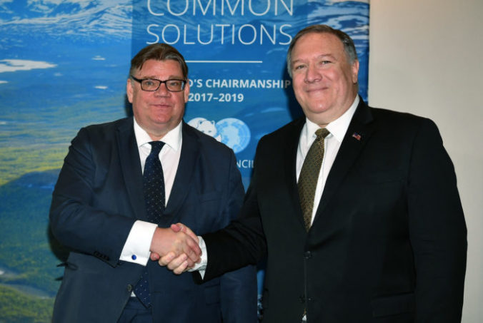 Timo Soini, Mike Pompeo