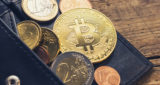 Personal Bitcoin Wallet with euro coins