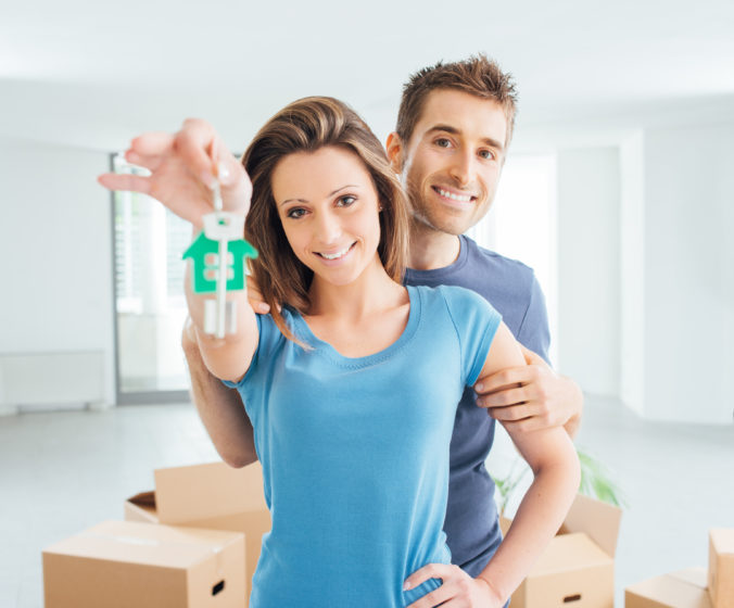 Couple buying their new house