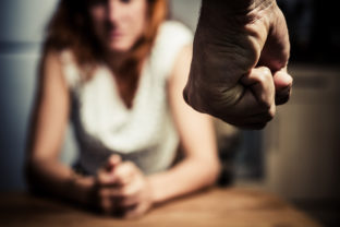 Woman in fear of domestic abuse