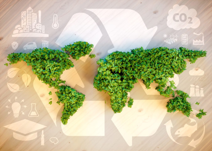 Sustainable world concept.