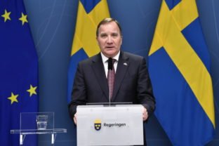 Sweden's Prime Minister Stefan Lofven talks about coronavirus advice before Christmas and the New Year holidays during a press conference in Stockholm, Sweden, Tuesday Dec. 8, 2020. ()