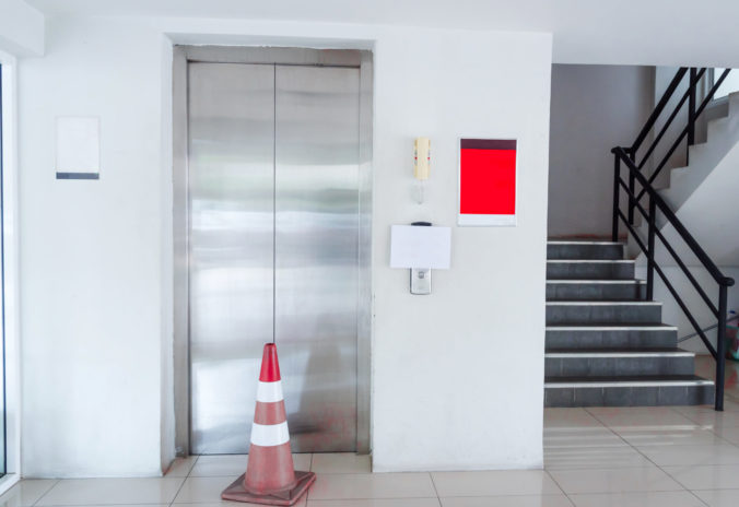 Elevator was broken. Please use the stairs.