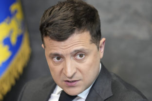 FILE - In this June 14, 2021, file photo Ukrainian President Volodymyr Zelenskyy gestures while speaking to the media during a news conference in Kyiv, Ukraine. The United States is promising up to $60 million in military aid to Ukraine in advance of White House meeting on Wednesday, Sept. 1, between President Joe Biden and his counterpart in Kyiv, Volodymyr Zelenskyy