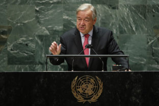 United Nations Secretary General Antonio Guterres addresses the 76th Session of the U.N. General Assembly in New York City