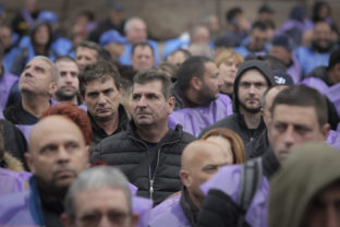 Bulgaria Miners' Protest Hundreds of Bulgarian coal miners and energy workers stage a protest in Sofia, Bulgaria, Wednesday, Oct. 13, 2021, to demand government guarantees for their jobs amid bids by the European Union to close mines and reduce carbon emissions. The financial burden of reducing carbon emissions poses a huge challenge to Bulgaria, which has one of the lowest GDP per capita rates in the EU. ()