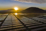 Solar Energy, a clean technology to reduce CO2 emissions and the best place for Solar Energy is the Atacama Desert at north Chile. Silicon cells Poly modules located in hundred of rows in the desert