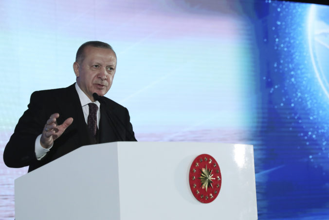 Turkish President Recep Tayyip Erdogan speaks at the opening of a new port in the Black Sea coastal province of Zonguldak, Turkey, Friday, June 4, 2021. Erdogan announced on Friday the discovery of a 135 billion cubic meter natural gas reserve in the Black Sea, in a new find that could help the energy-dependent country meet its needs in the years to come. The newly found gas reserve follows the discovery of 405 billion cubic meters of natural in the Black Sea last year.(