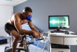 Man doing a fitness test