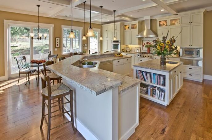 Post traditional kitchen with breakfast bar pendant lights and granite  countertops i g ist47pdoktr50f0000000000 2bbw4.jpg 41c22a8f97e