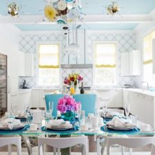 Post_blue ceiling adds to the appeal of the exquisite contemporary dining space.jpg