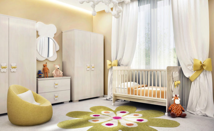 Modern children`s room for baby